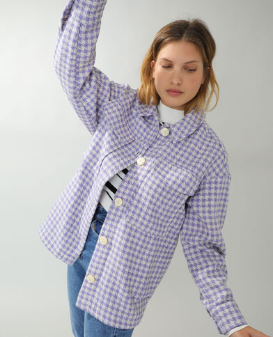 Giacca camicia in tweed viola - Pimkie