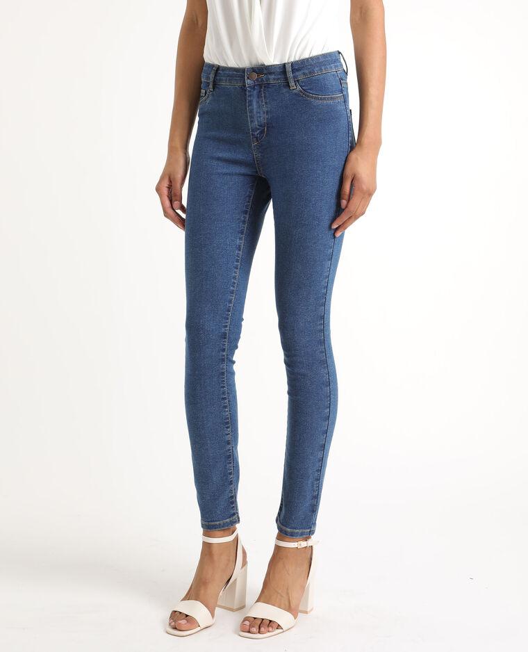 Jeans skinny mid waist blu grezzo