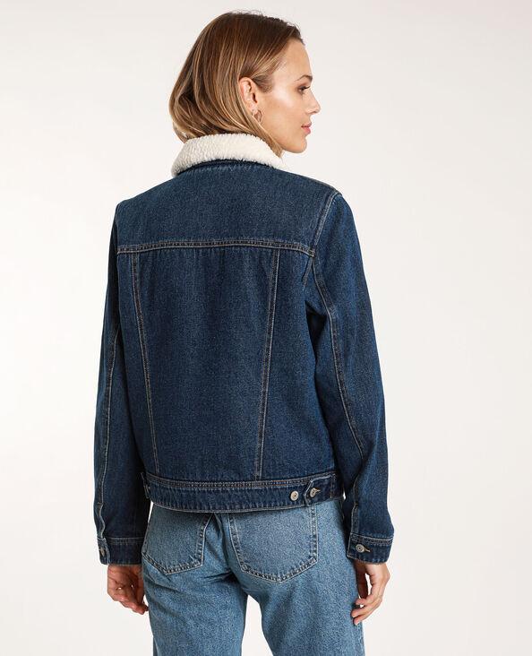 Giacca in jeans foderata blu scuro