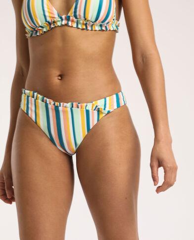 Pezzo sotto del bikini a righe giallo