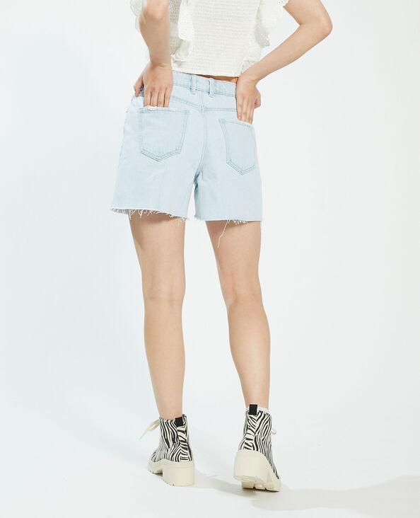 Short destroy high waist blu chiaro - Pimkie