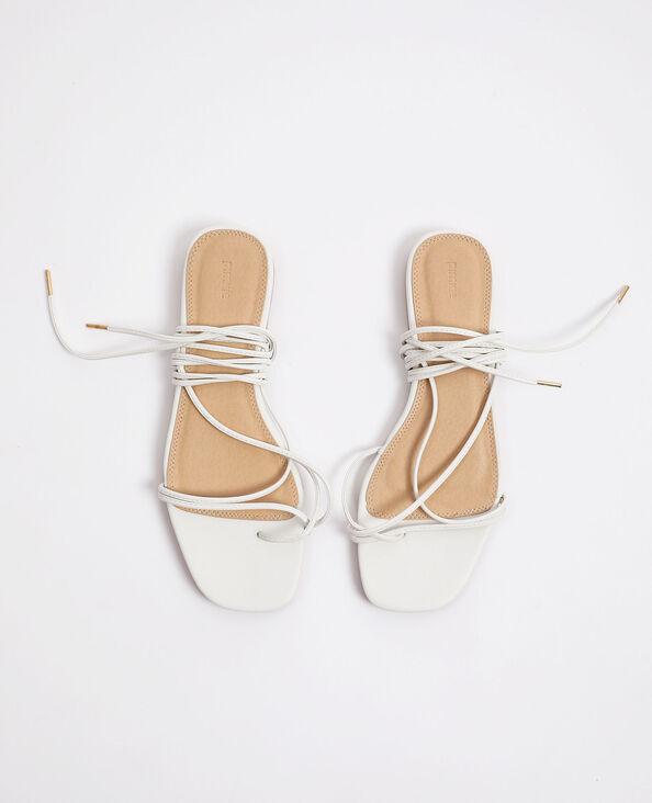 Sandali con lacci bianco