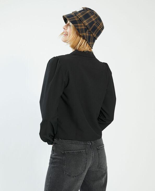 Camicia con motivi in rilievo. nero - Pimkie