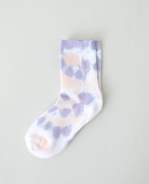 Paio di calzini tie and dye viola - Pimkie