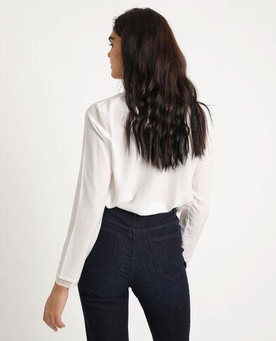 Camicia morbida abbottonata. bianco sporco