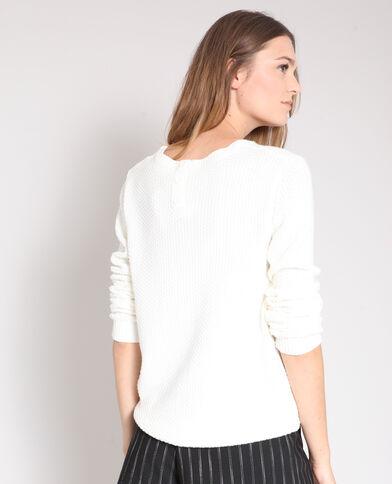 Pull in maglia fantasia bianco