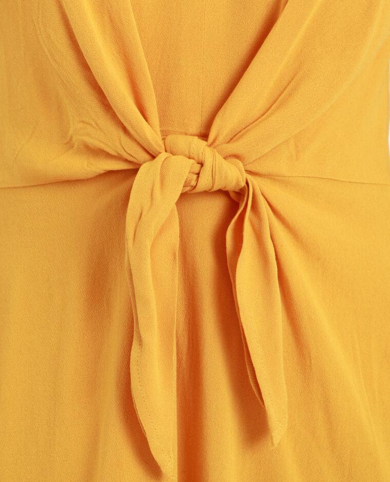 Abito annodato sul petto giallo