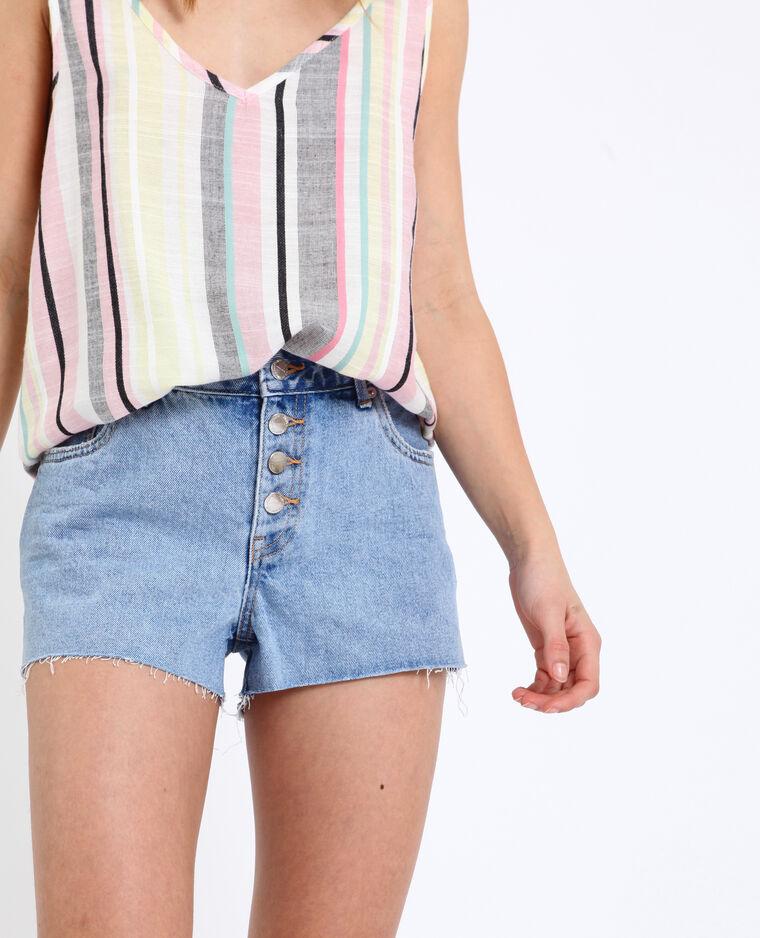 Short in jeans mid waist blu delavato