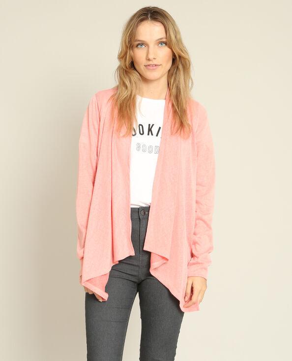 Cardigan sottile rosa
