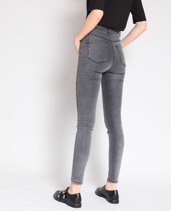 Jeans skinny a vita alta grigio
