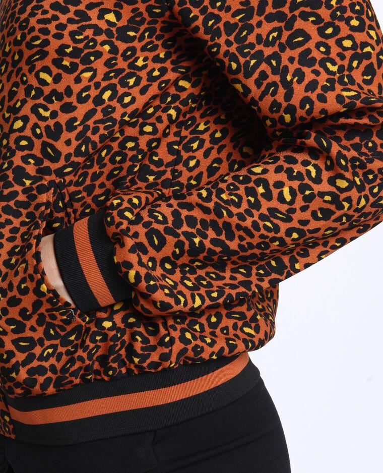 Bomber morbido leopardato caramello