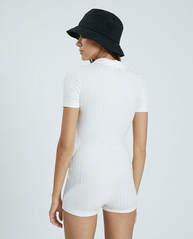 Tutina in maglia piatta bianco - Pimkie