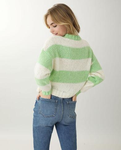 Pull in maglia grossa verde