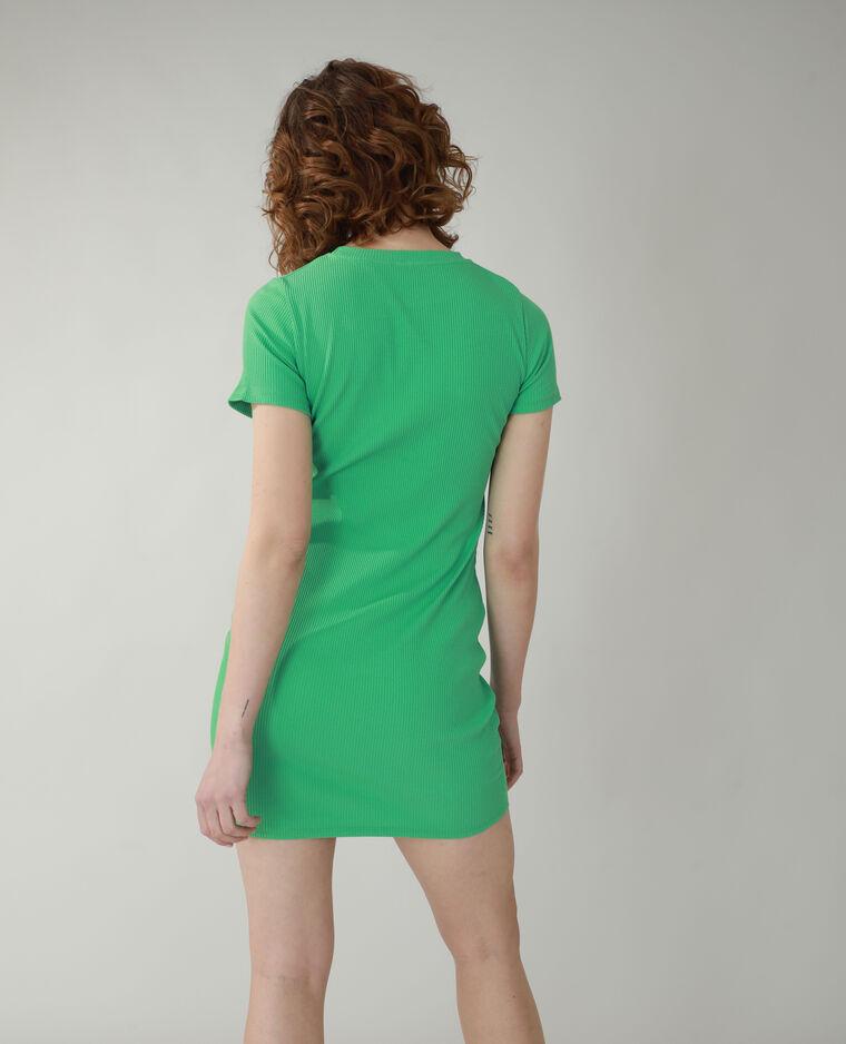 Abito t-shirt a coste verde - Pimkie