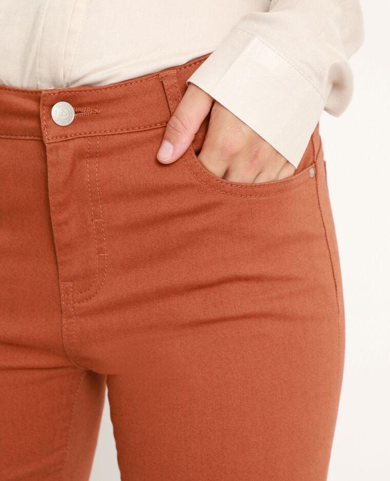 Skinny push up marrone