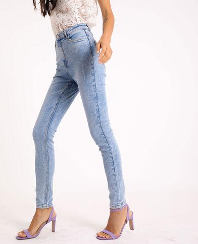 Jeans skinny high waist blu chiaro