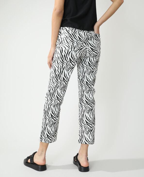 Jeans straight high waist zebrato bianco - Pimkie