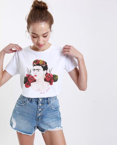 T-shirt Frida Kahlo bianco