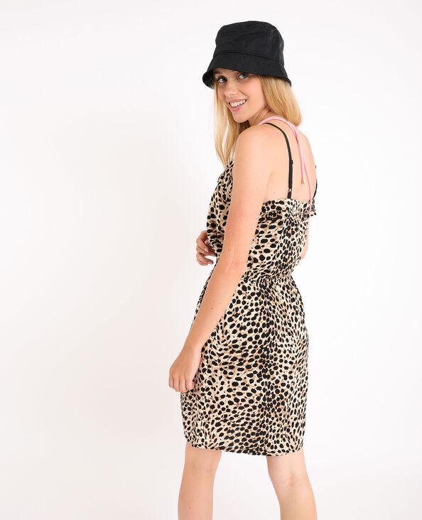 Abito stampa leopardata marrone
