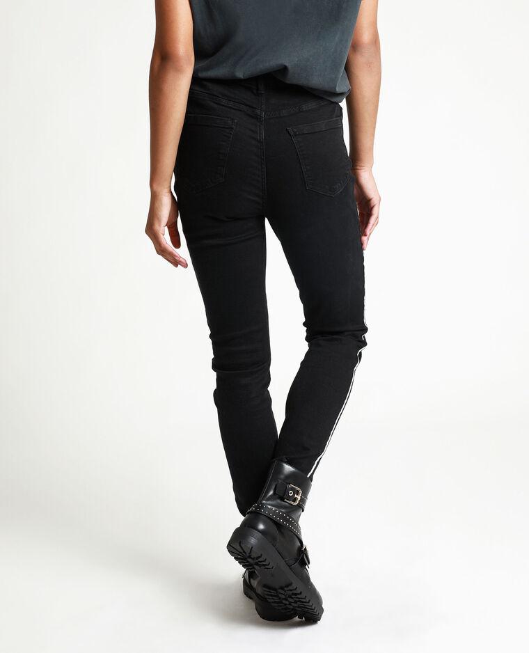 Jeans skinny con fasce nero