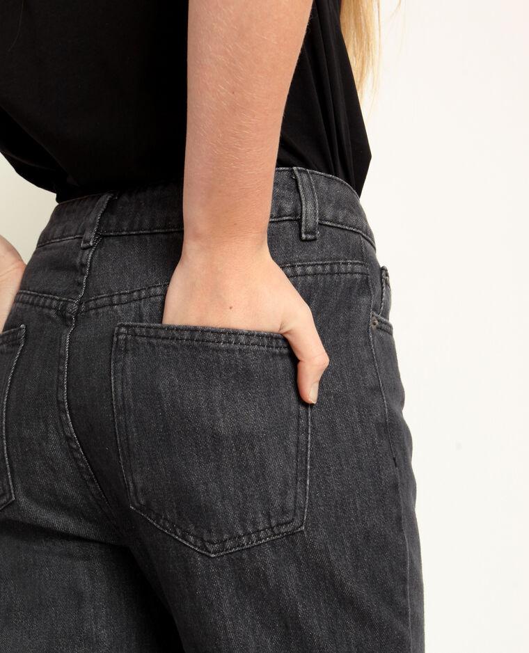Jeans a vita alta grigio antracite