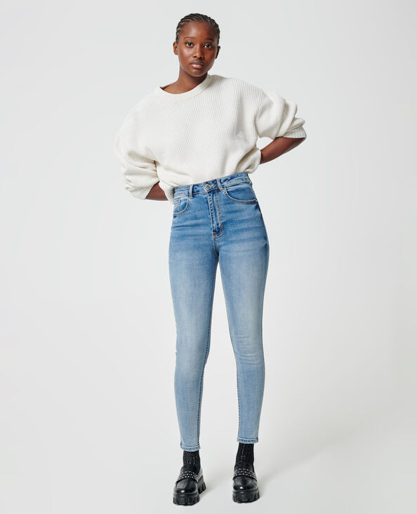 Jeans skinny push up blu grezzo - Pimkie
