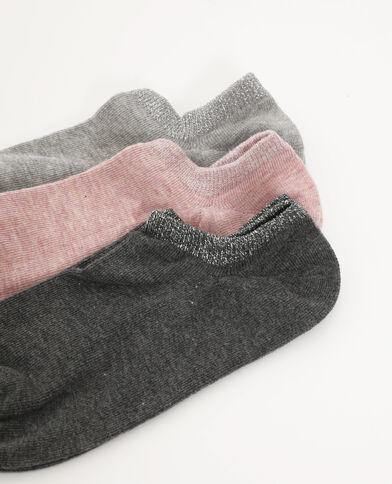 Lotto da 3 paia di calze basse rosa