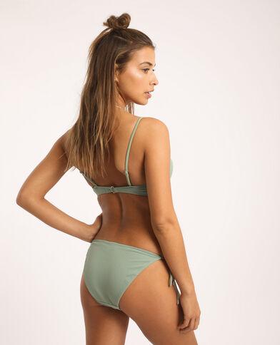 Pezzo sotto di bikini sgambato verde