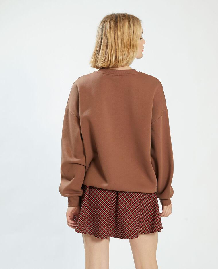 Felpa felpata oversize marrone - Pimkie
