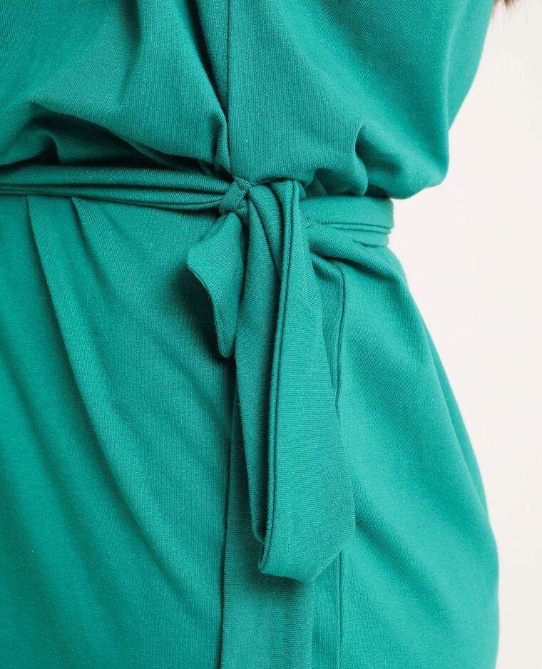 Abito con cintura in tessuto riciclato vert