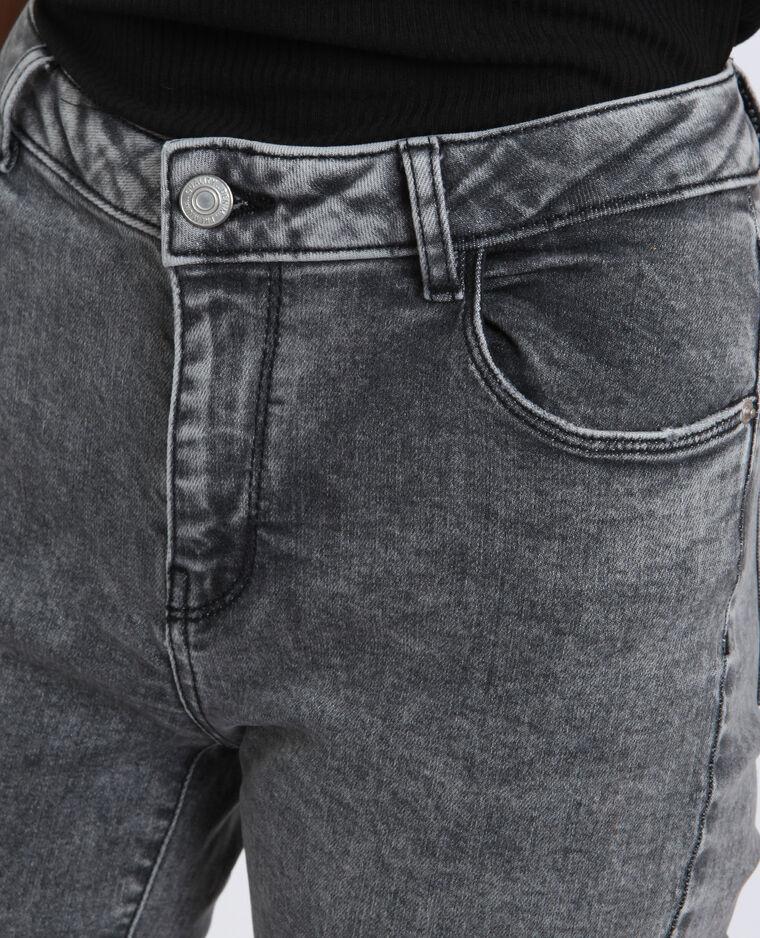 Jeans straight high waist grigio