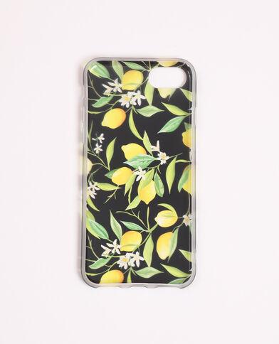 Custodia stampata compatibile con iPhone giallo
