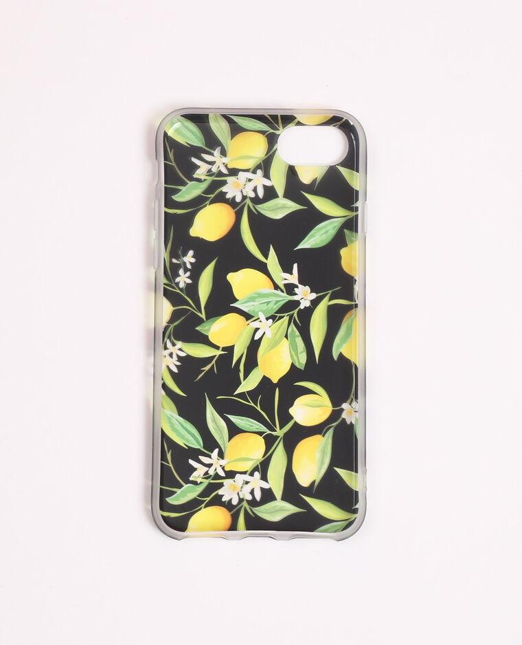 Custodia stampata compatibile con iPhone giallo - Pimkie