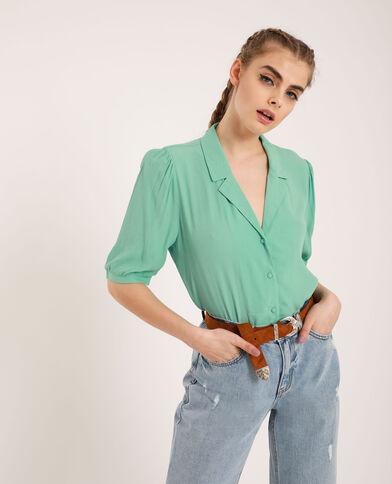 Blusa con maniche a 3/4 verde