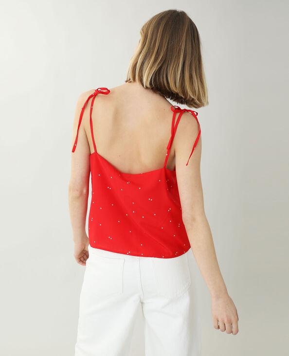 Top con spalline sottili rosso - Pimkie