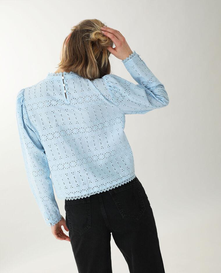 Blusa traforata blu