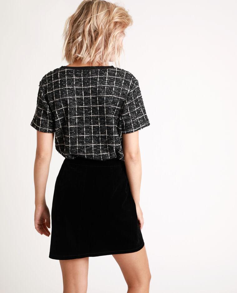 T-shirt in tweed nero