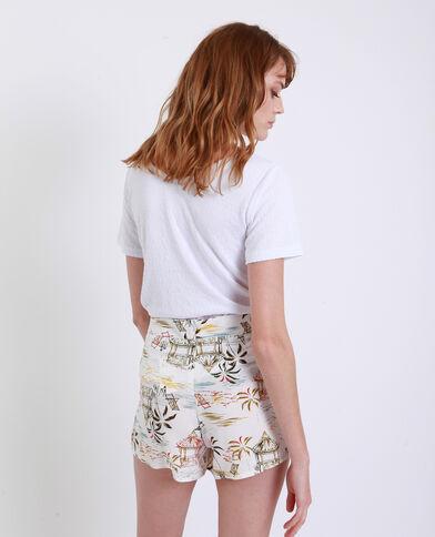 T-shirt con fiocco bianco