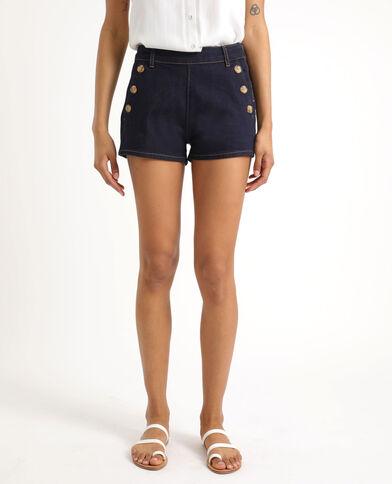 Short in jeans abbottonato blu scuro