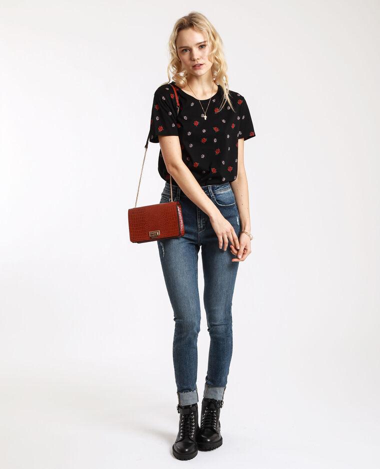 T-shirt grafica nero + rojo