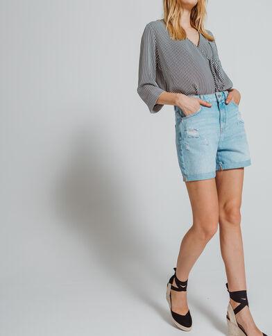 Short in jeans blu