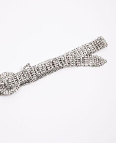 Cintura con strass grigio - Pimkie