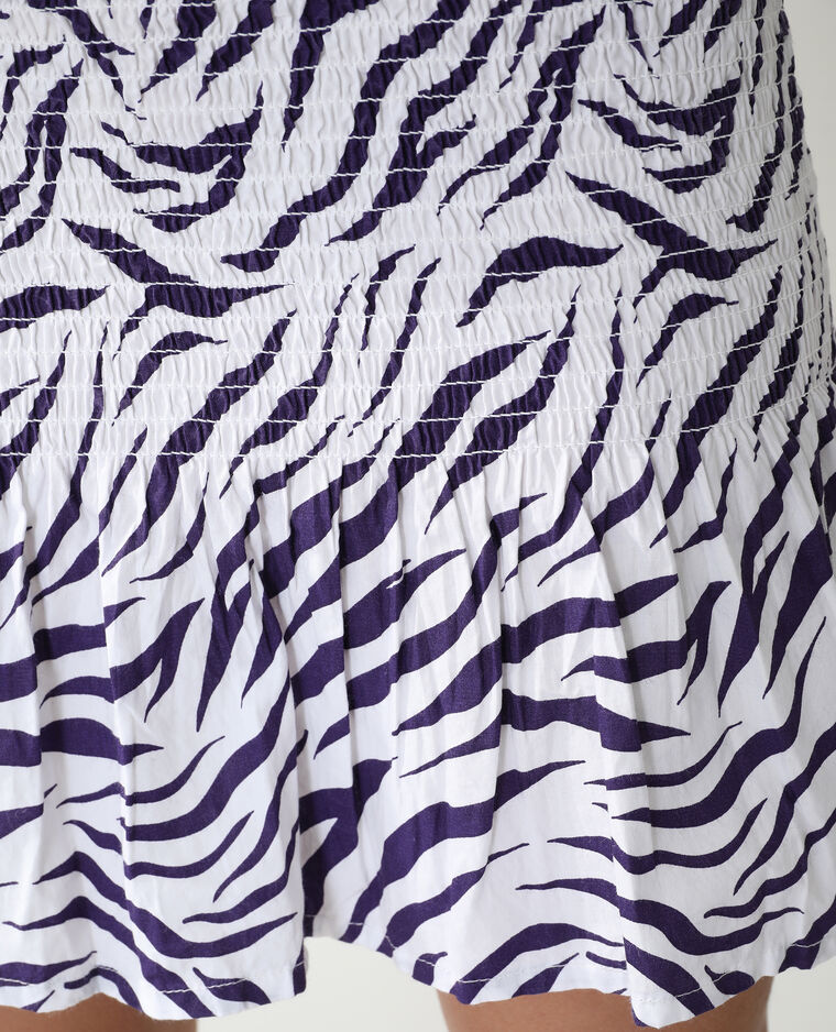 Abito zebrato con smock bianco - Pimkie