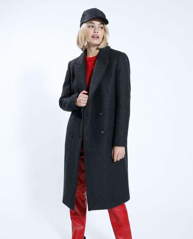 Cappotto lungo con lana grigio antracite - Pimkie