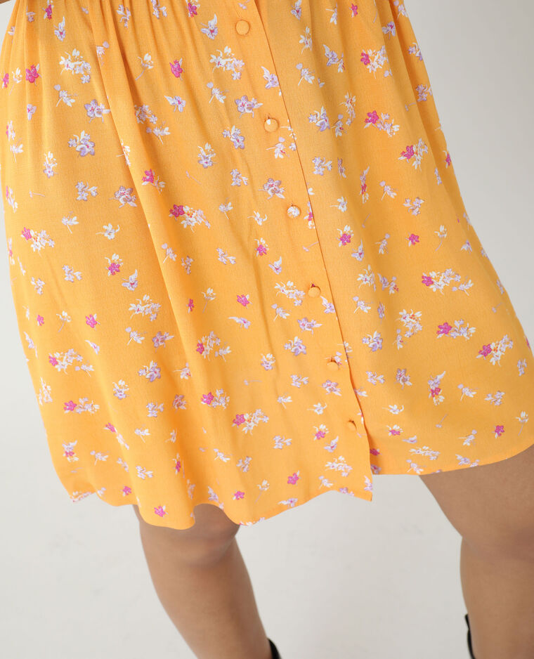Abito a fiori arancio - Pimkie
