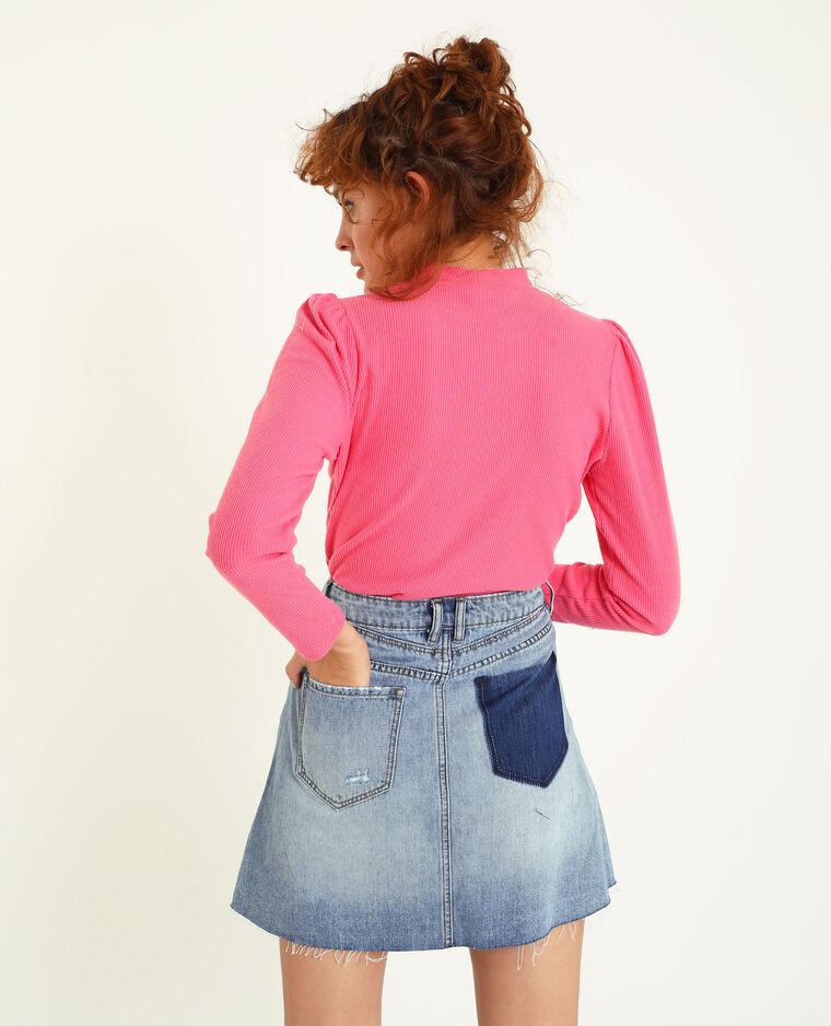 T-shirt a maniche lunghe rosa fucsia