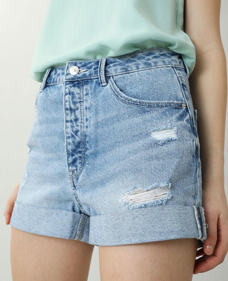 Short di jeans high waist blu chiaro - Pimkie