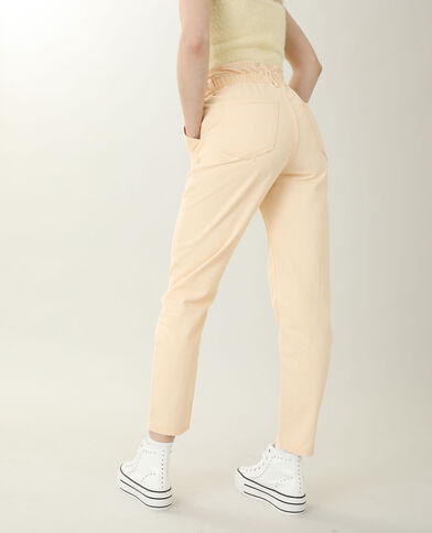 Jeans mom high waist arancio