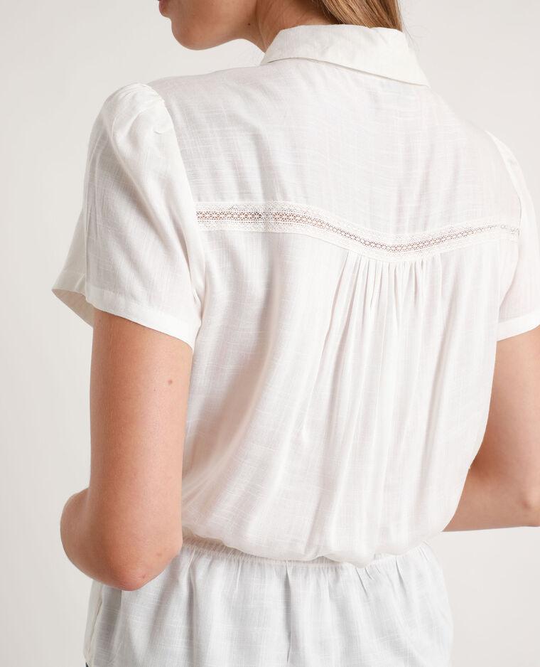 Camicia pizzo bianco sporco