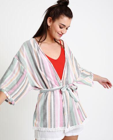 Kimono da spiaggia rosa
